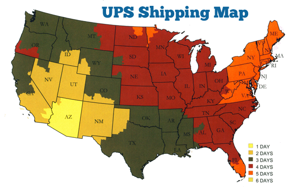 UPS Shipping Map and Timeline